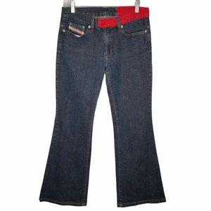 Vintage Diesel Serpa Flare Jeans color block waist